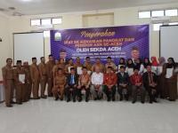 Sekda Aceh Serahkan 25 SK Pangkat PNS se- Gayo Lues