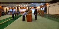 Asisten Administrasi Umum Lantik 8 Pejabat Eselon 3 dan 4 Dilingkungan Pemerintah Aceh